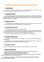 Conditions réservation gîtes