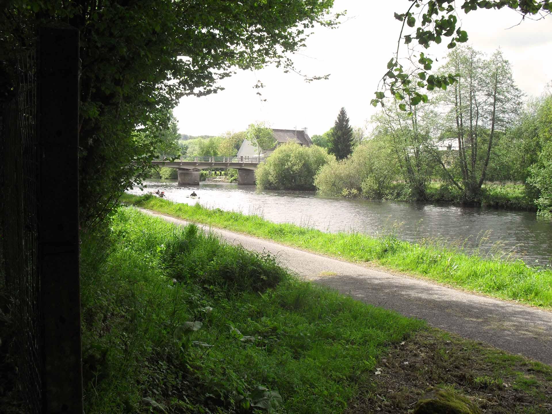 Le camping est proche hallage du Blavet - Camping de Pont Augan - Languidic - Morbihan