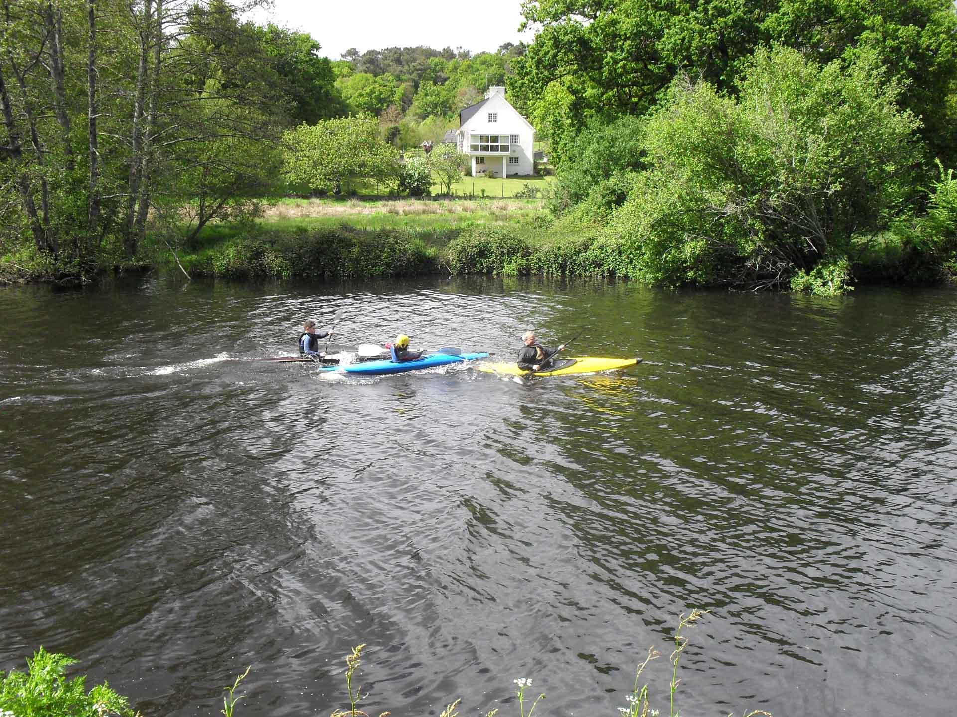 Kayak sur le blavet - Camping de Pont Augan - Languidic - Morbihan